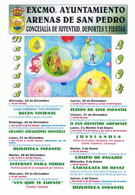 Cartel Fiestas Navidad 2004