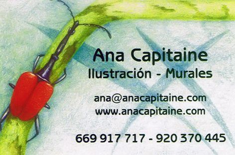 Tarjeta Visita Ana Capitaine